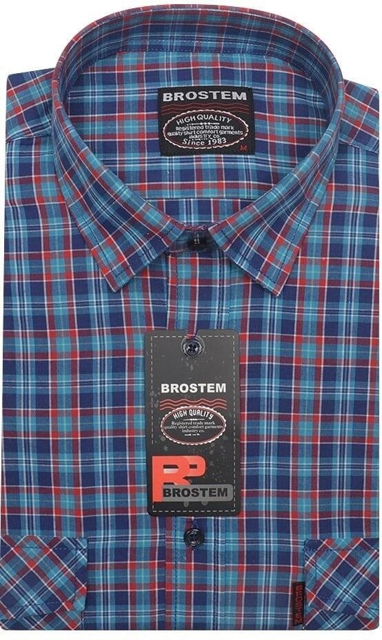 Хлопковая рубашка в клетку мужская Brostem SH660