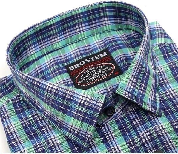 Хлопковая мужская рубашка в клетку Brostem SH672-31