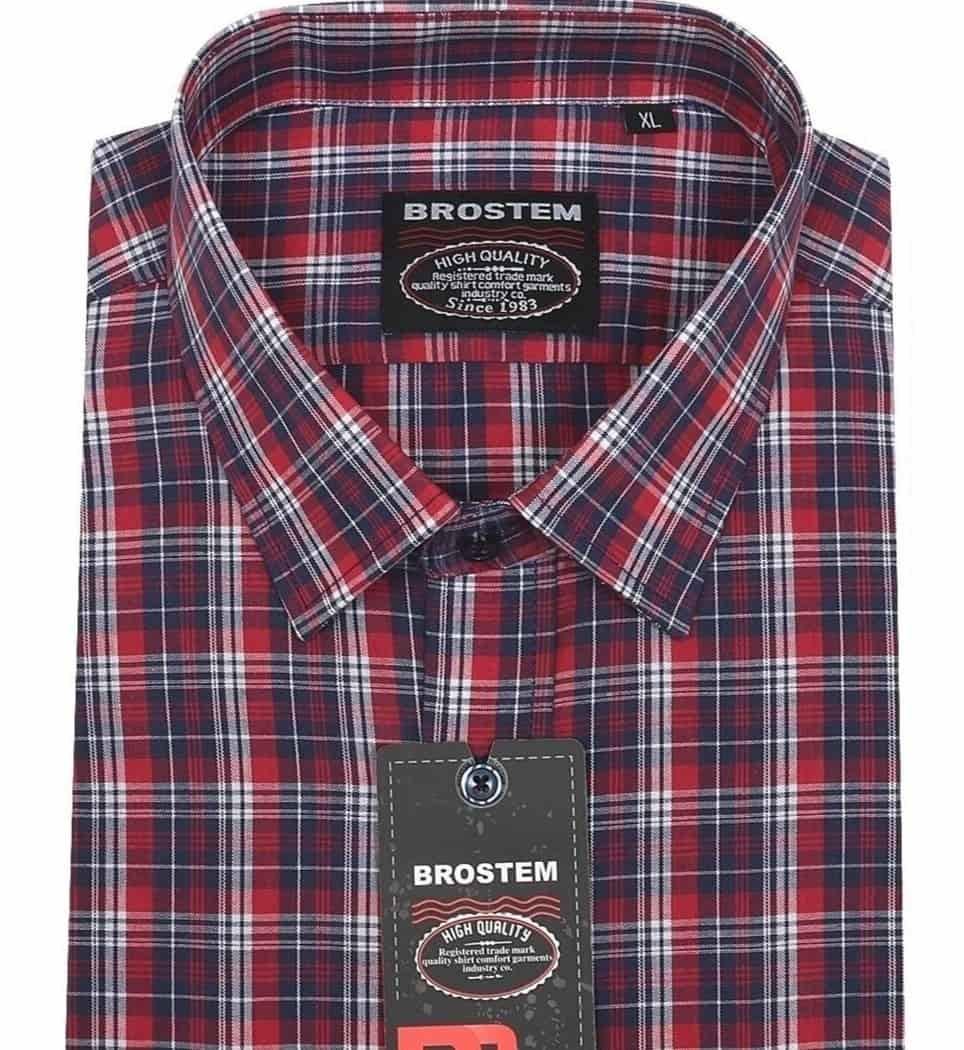 Мужская классическая рубашка в клетку Brostem SH672