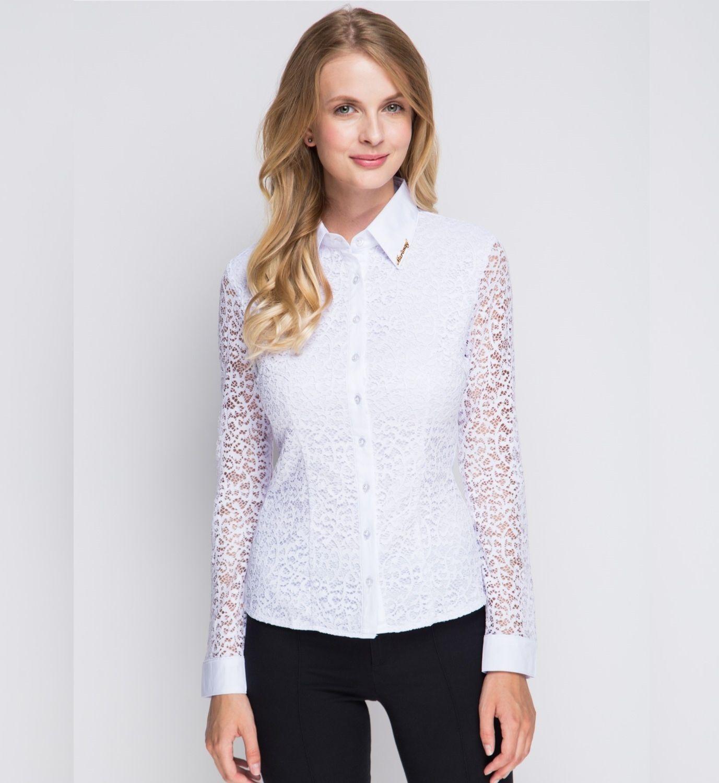 Белая ажурная блузка Marimay 905-1337