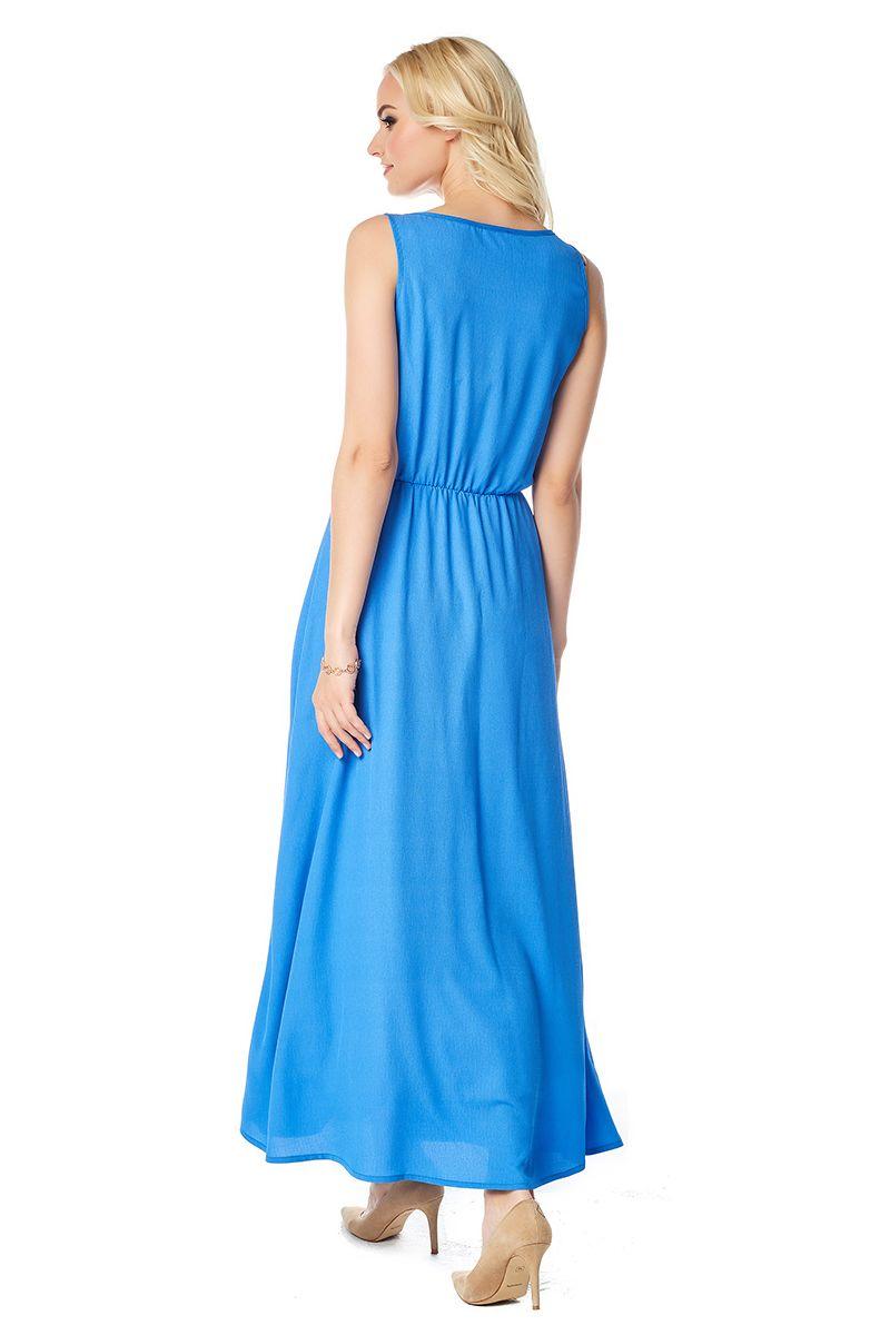 Голубое длинное платье LalaStyle 1386