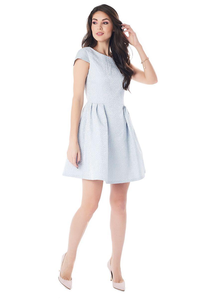 Шикарное серебристое платье на торжество LalaStyle 1385-150