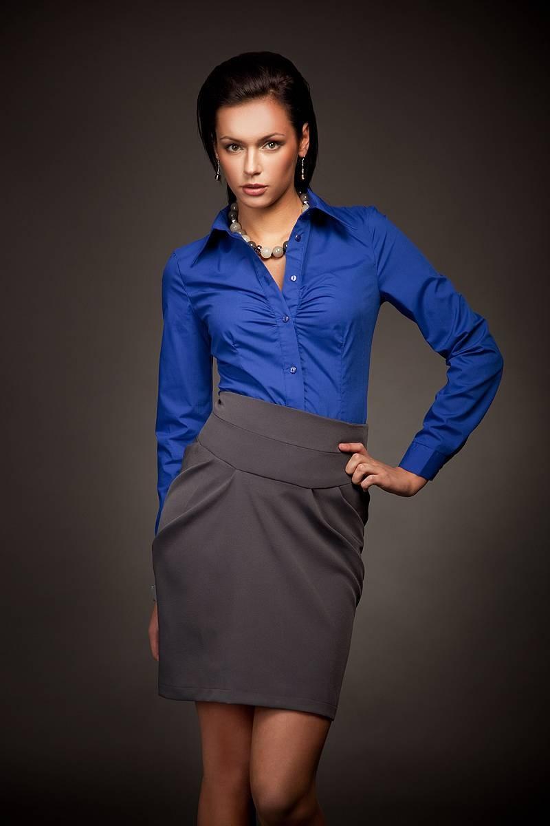 Синяя женская рубашка Nife К24
