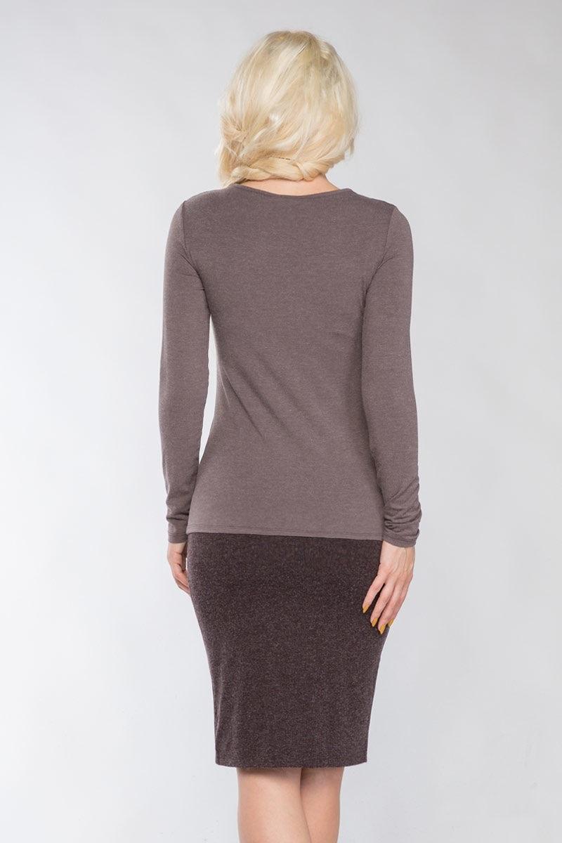 Модная блузка дымчатого цвета Lala Style 1113