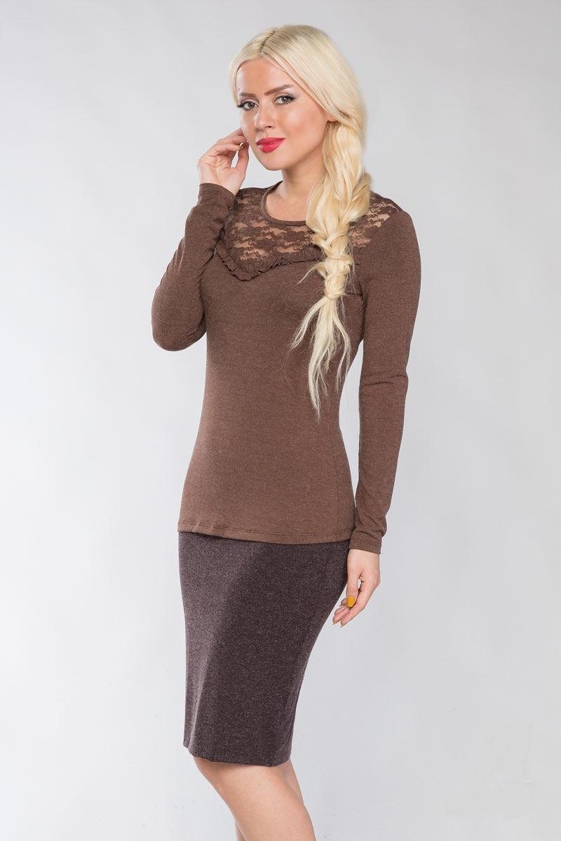 Блузка краска  мокко Lala Style 1113