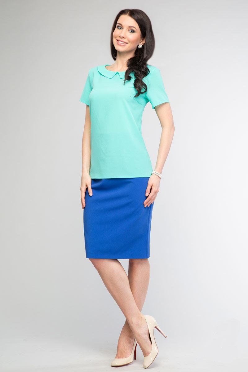 Нежная блузка мятного цвета LalaStyle 1066-78