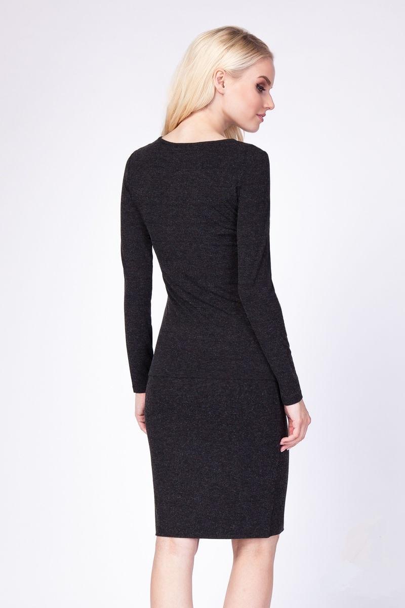 Черная шерстяная блузка Lala Style 1113