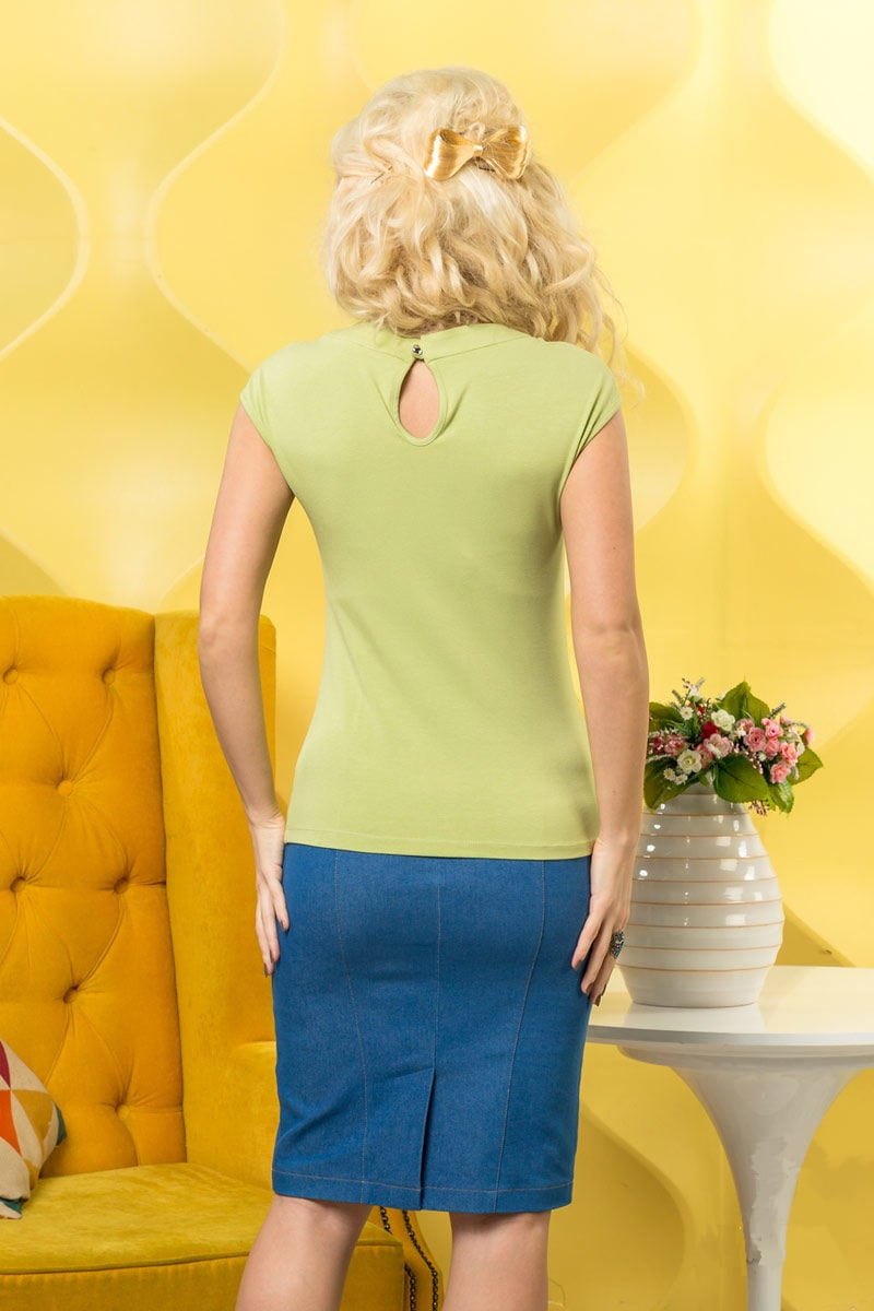Летняя фисташковая блузка LalaStyle 948