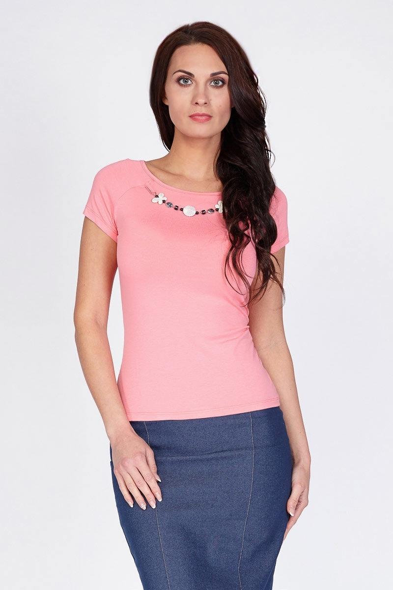 Коралловая летняя блузка LalaStyle 1184