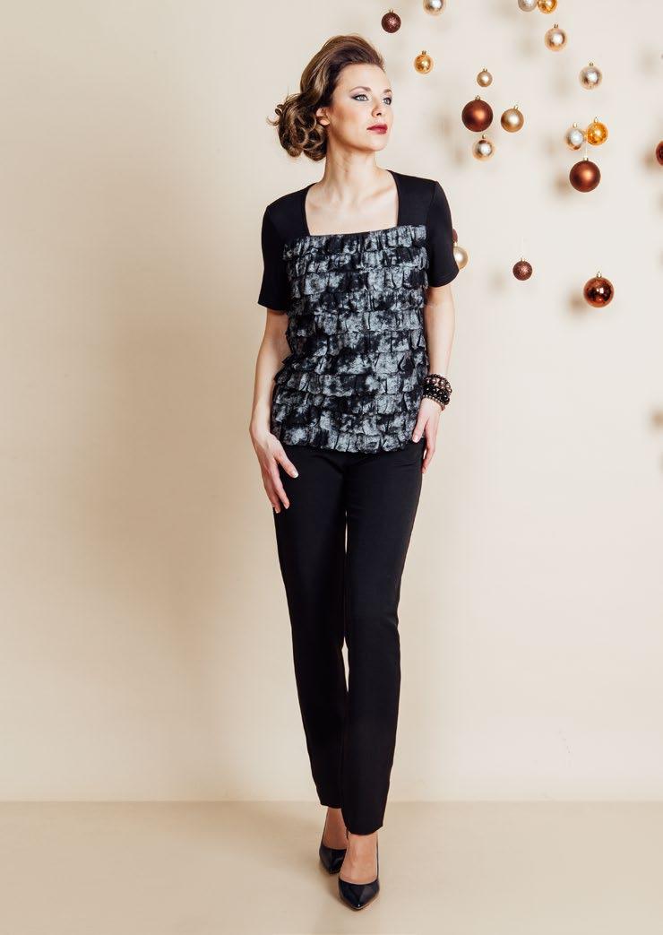 Нарядная женская блузка Top Design NB6 14