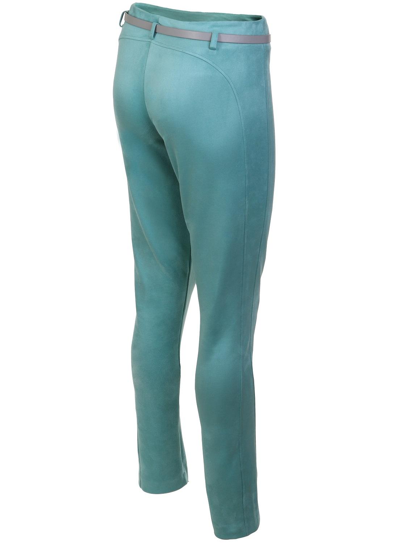 Бирюзовые облегающие брюки TopDesign РА7 15