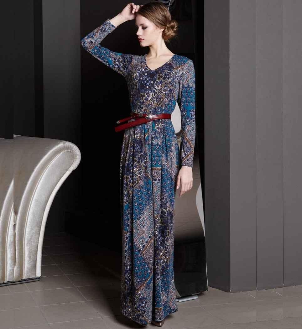 Длинное платье с ремнем Flaibach 126W7