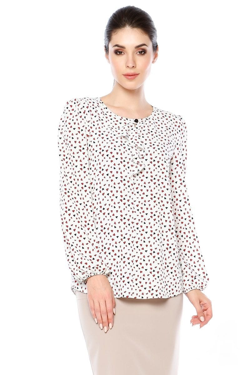 Элегантная блузка с длинным рукавом LalaStyle 1311-247