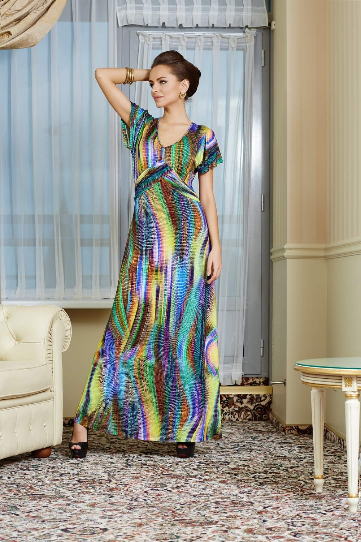 длинное нарядное платье на лето