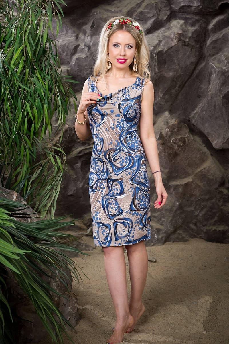 Женское платье с вырезом качели LalaStyle 813-06
