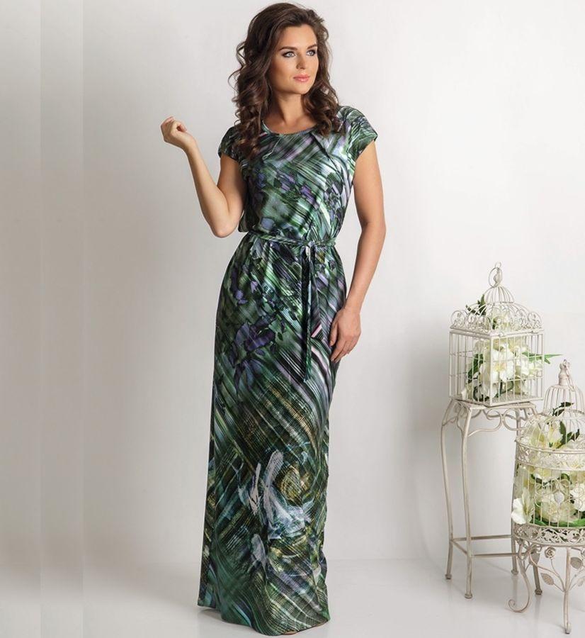 Длинное летние платье TopDesign PA6 20