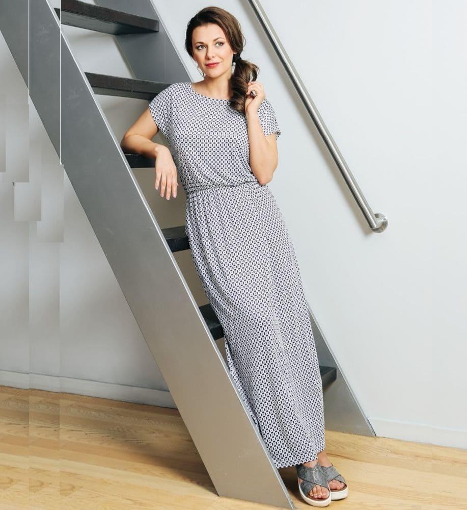 Летние длинное платье Top Design A7 018