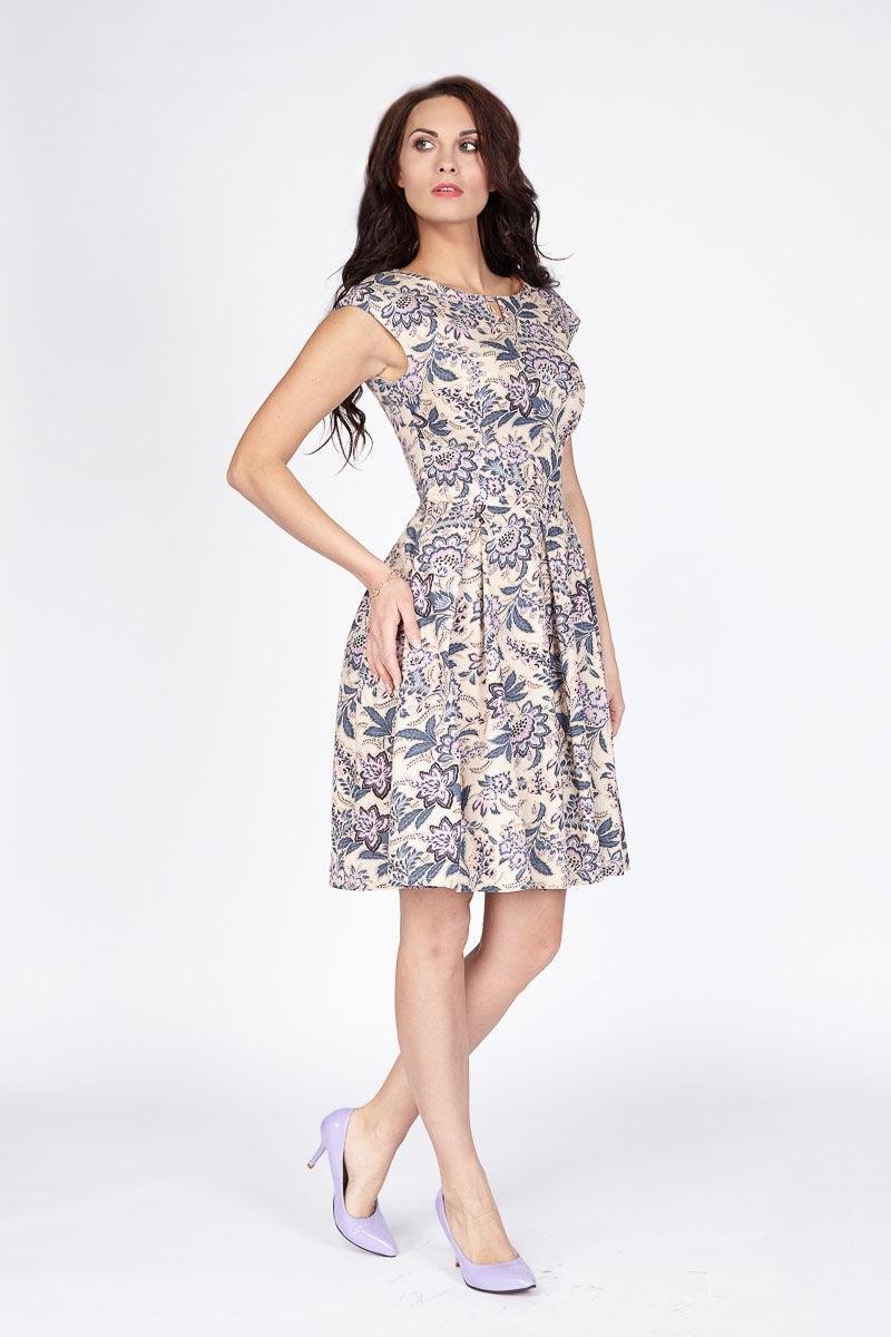 Модное хлопковое платье LalaStyle 1166-86