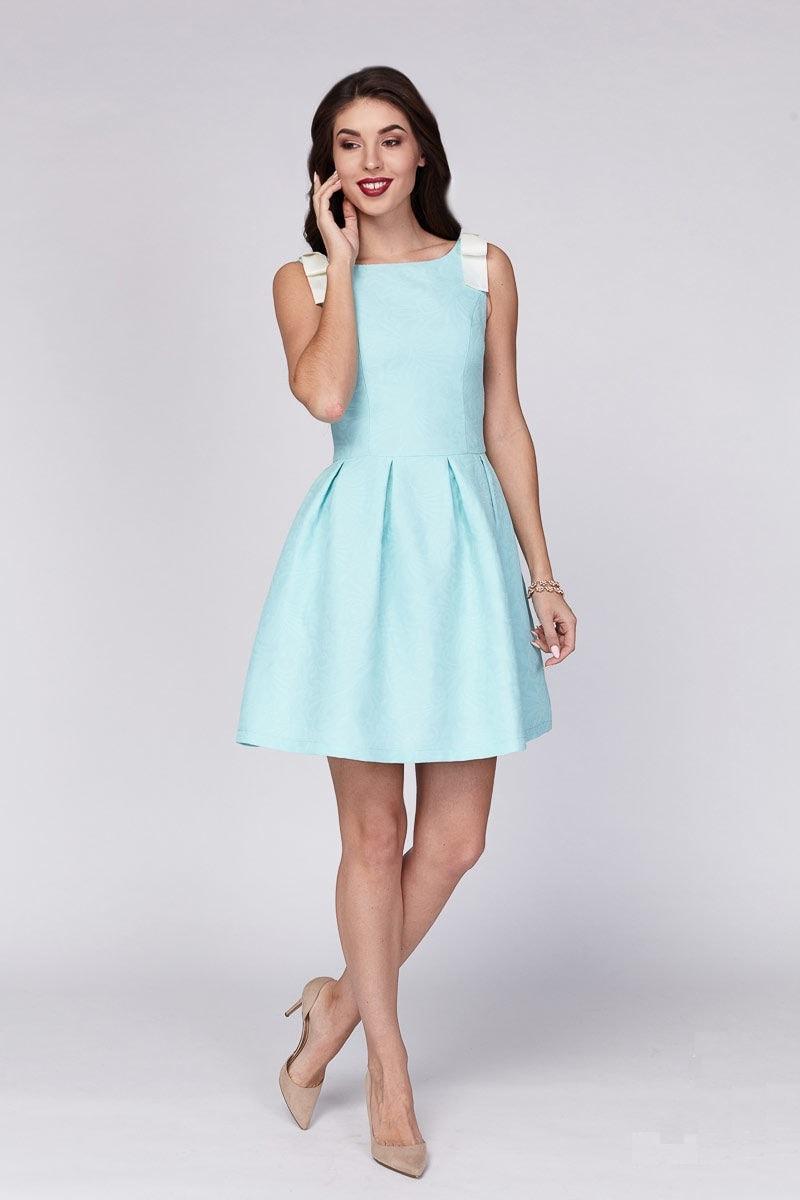 Платье ментолового цвета Lala Style 1228