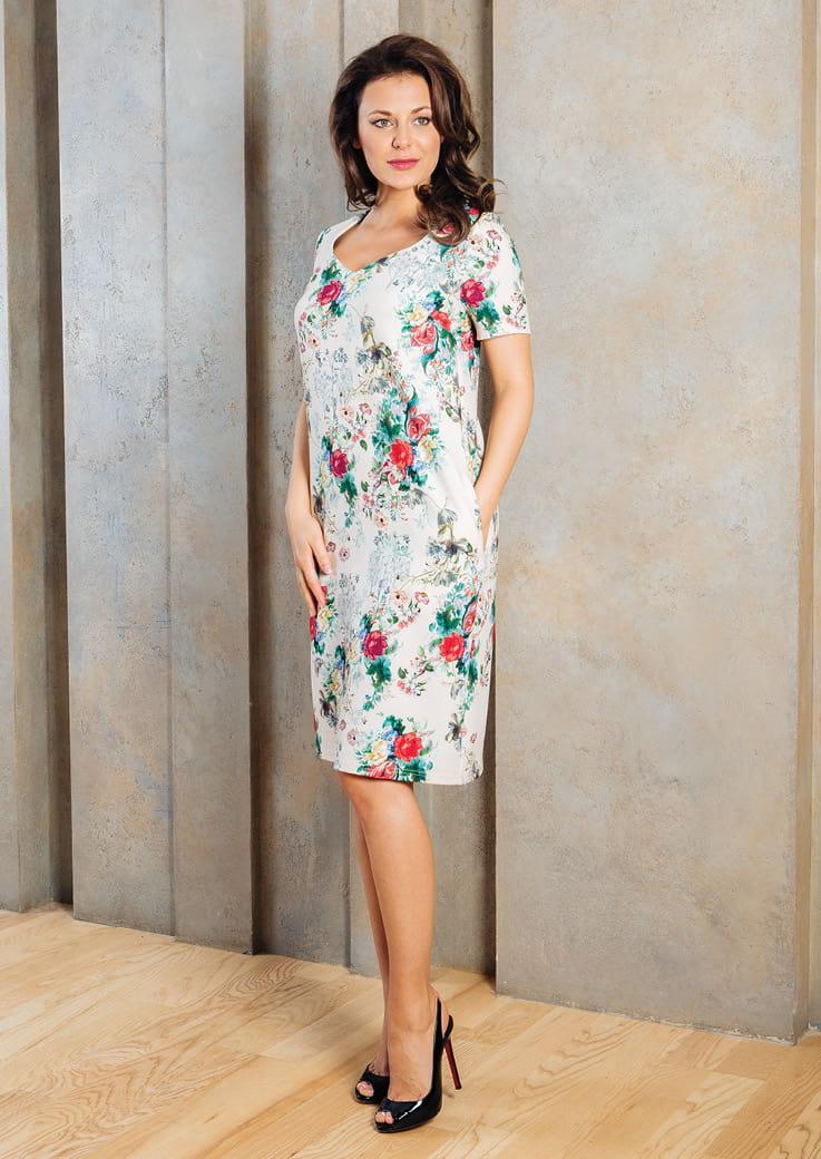 женское платье кратким  рукавом