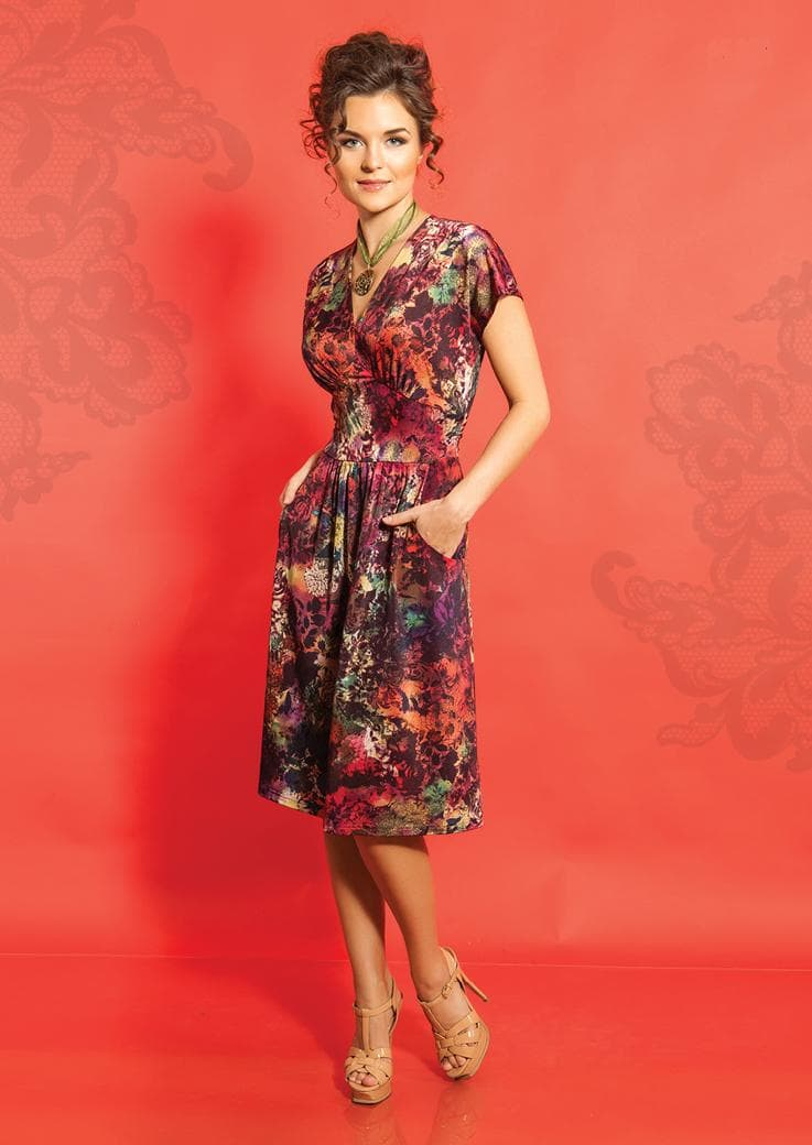 Платье цветочный принт TopDesign А5 074