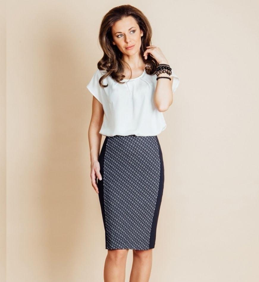 Строгая женская юбка Top Design B6 110