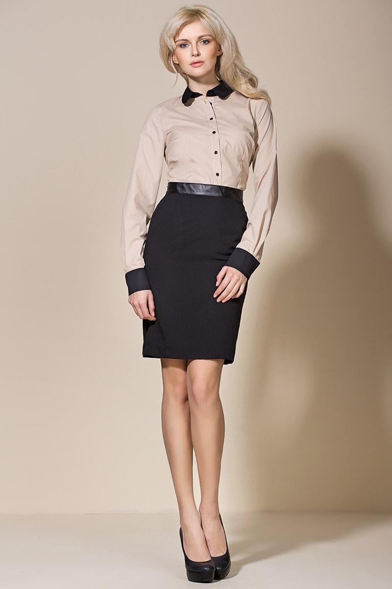 Черная юбка с отделкой Nife AL07