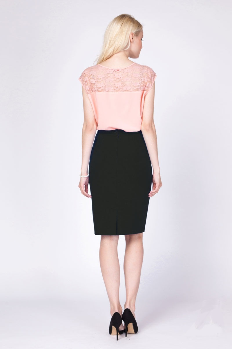 Черная юбка LalaStyle 1045-11