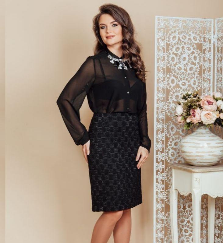 Модная юбка Top Design РВ6 27