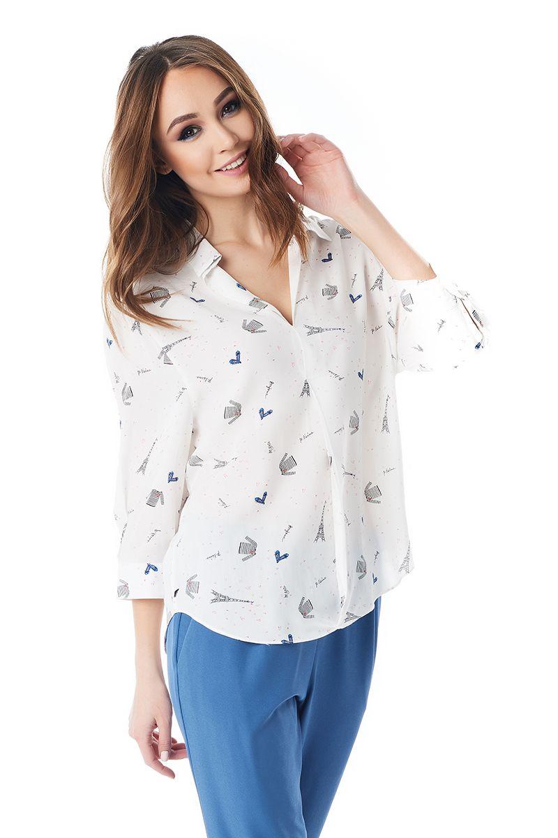 Хлопковая летняя блузка LalaStyle 1401-260