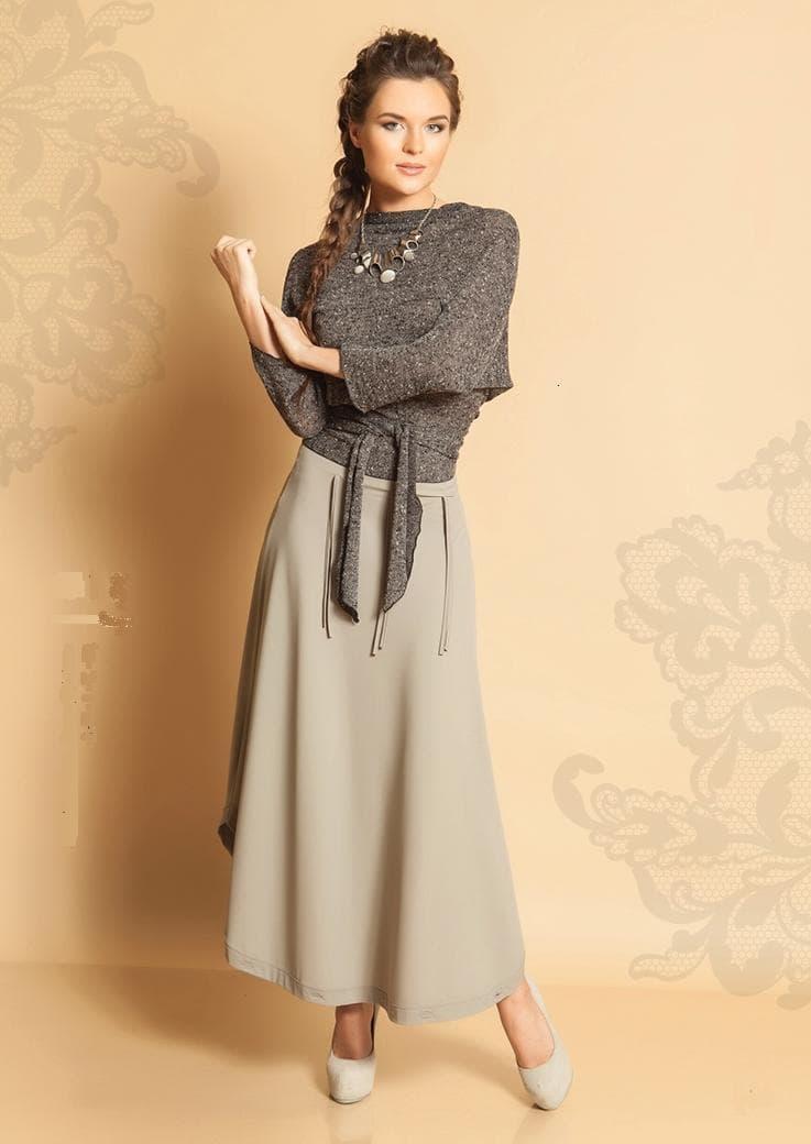 Модная ассиметричная юбка TopDesign А5 119