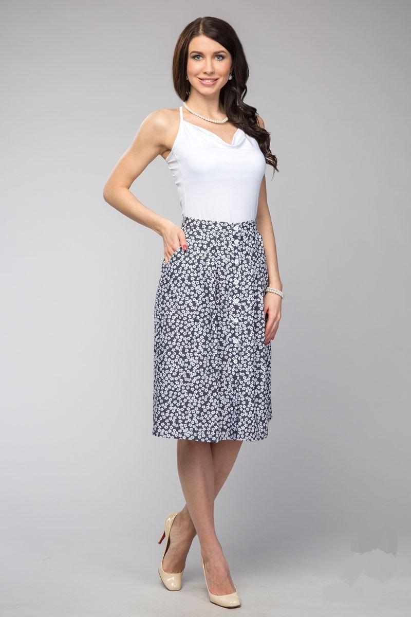 Стильная летняя юбка LalaStyle 1026-14