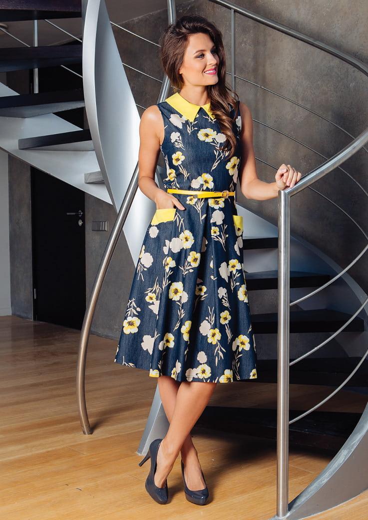 Летнее модное платье TopDesign РА7 18