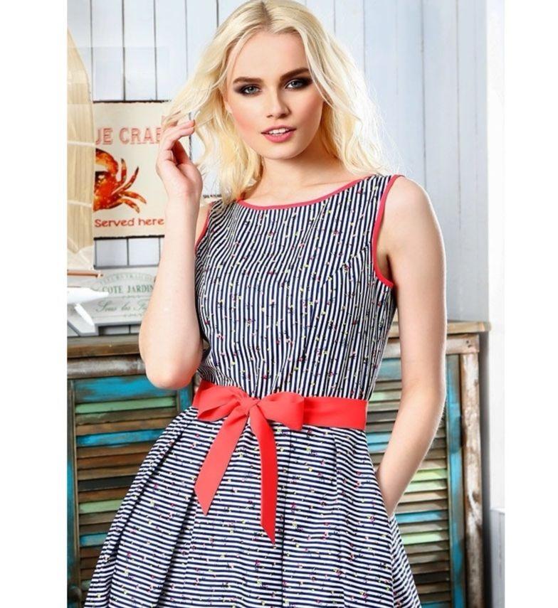 Стильное хлопковое платье Lala Style 1239-94