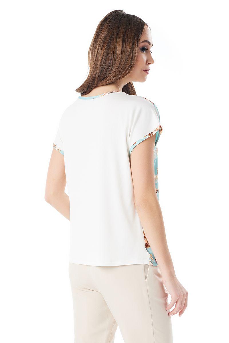 Летняя шелковая блузка LalaStyle 1380-189