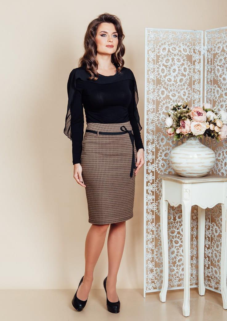 Модная юбка Top Design РВ6 41