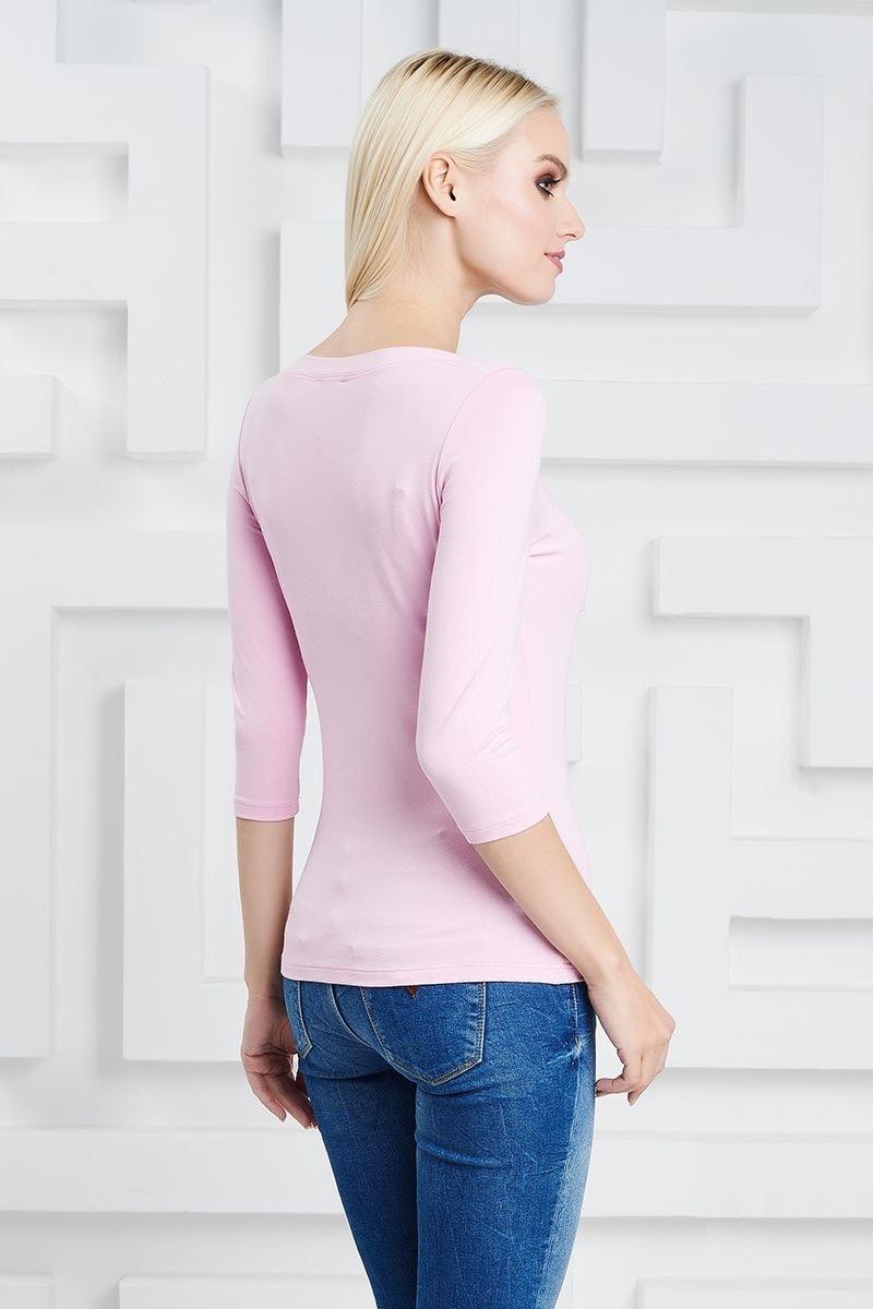 Розовая блузка из вискозы LalaStyle 21