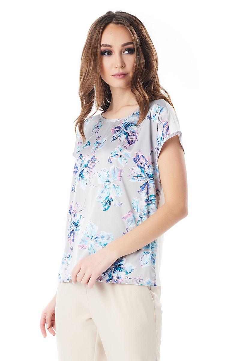 Шелковая блузка на лето LalaStyle 1380-191