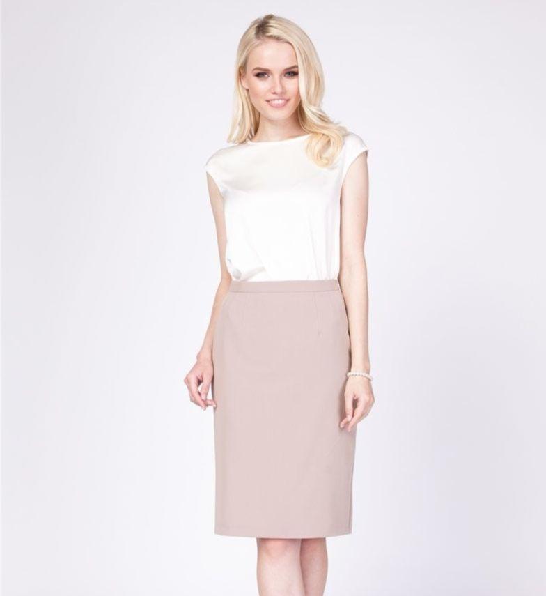 Бежевая женская юбка 1045-01