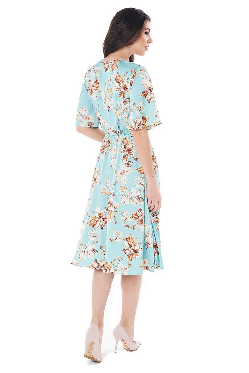 Летние шелковое платье LalaStyle 1379-189