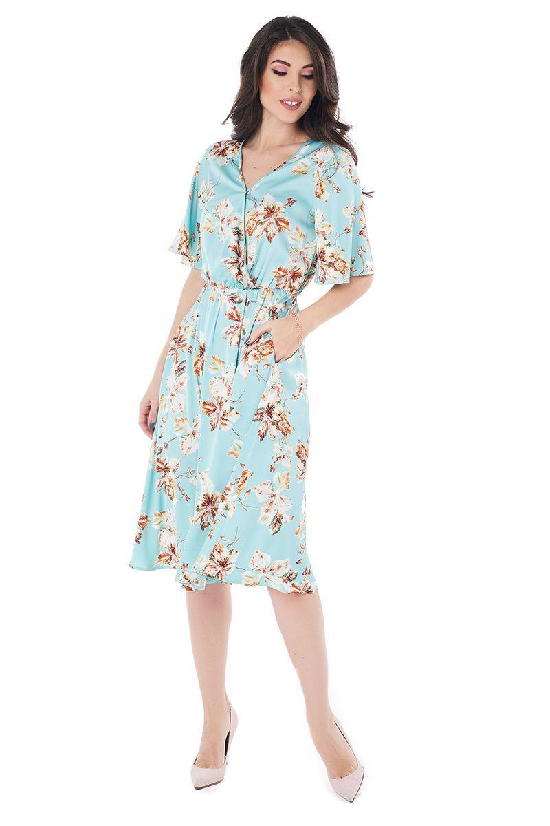 летние шелковое платье