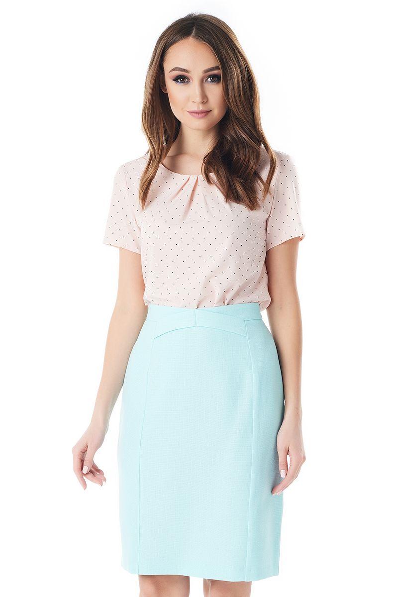 Льняная юбка цвета аквамарин LalaStyle 1377