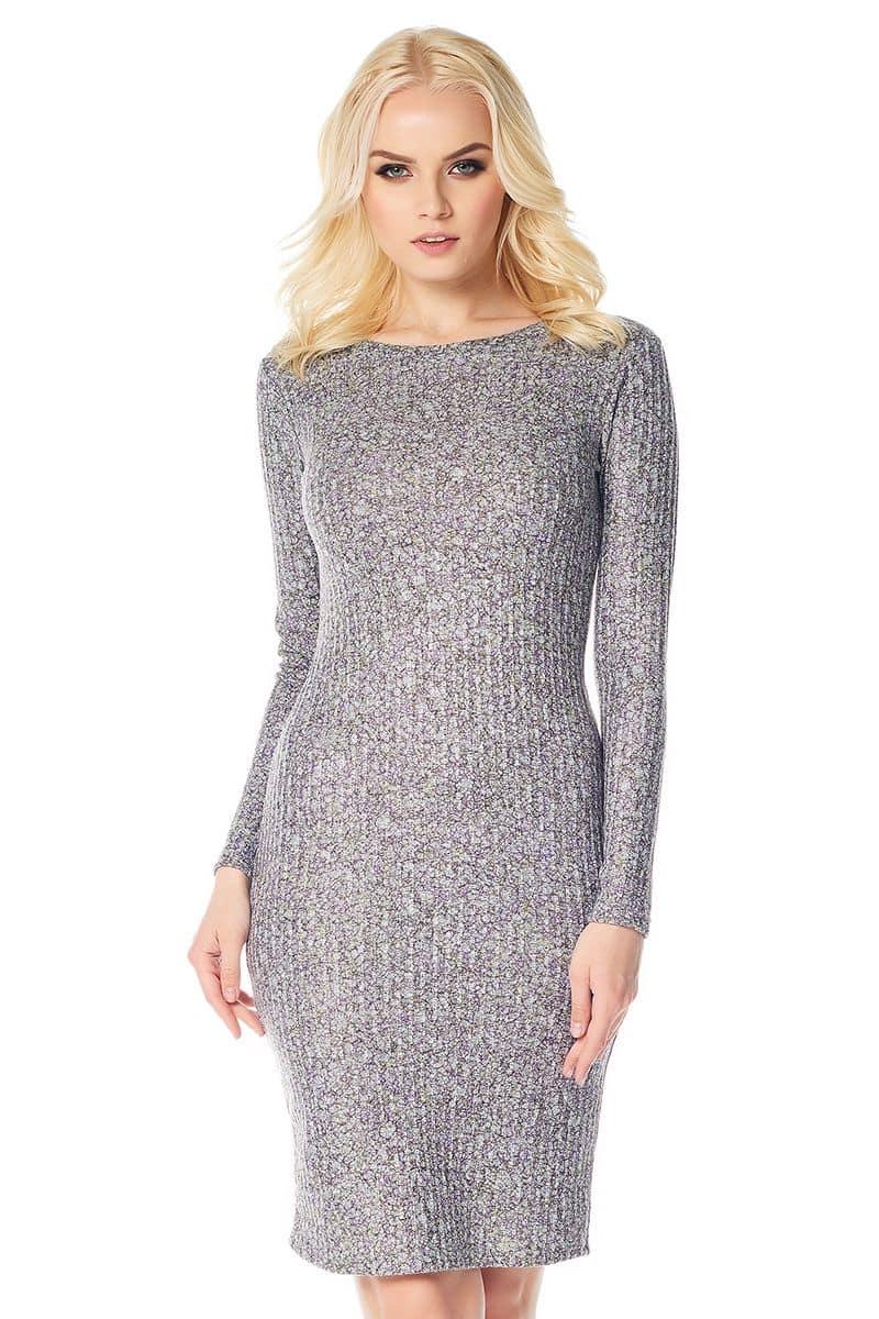 Платье с долгим  рукавом LalaStyle W01006-285