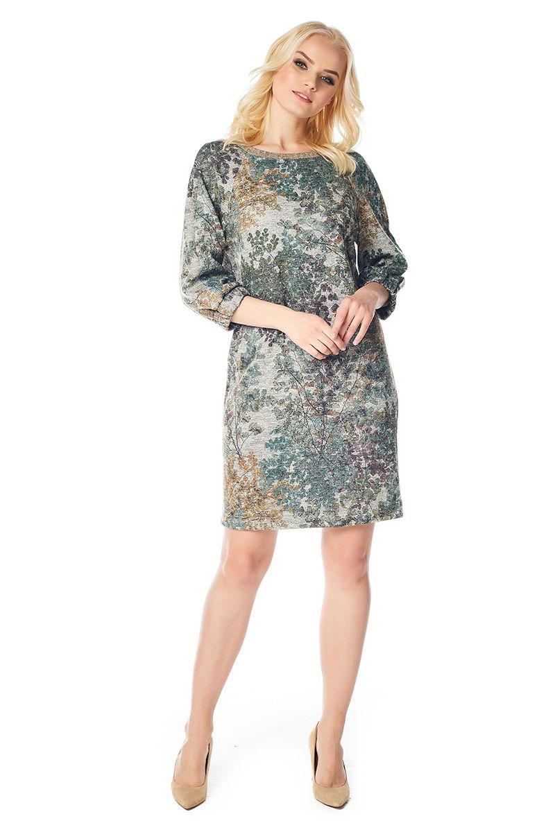 Модное платье из шерсти LalaStyle W01026-283