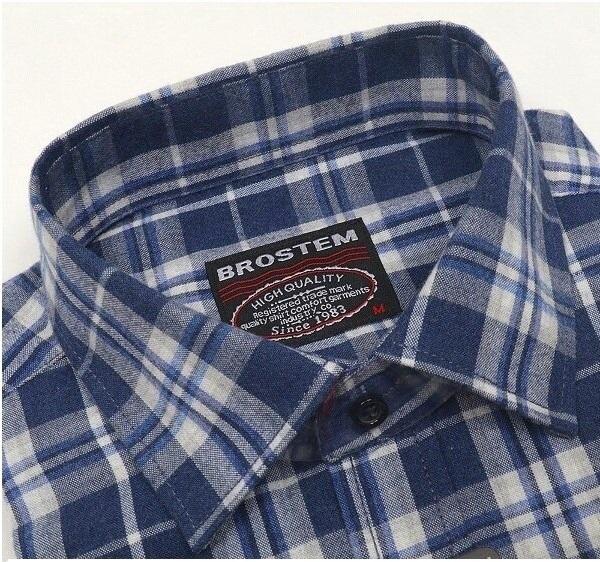 Рубашка в клетку мужская Brostem KA2519
