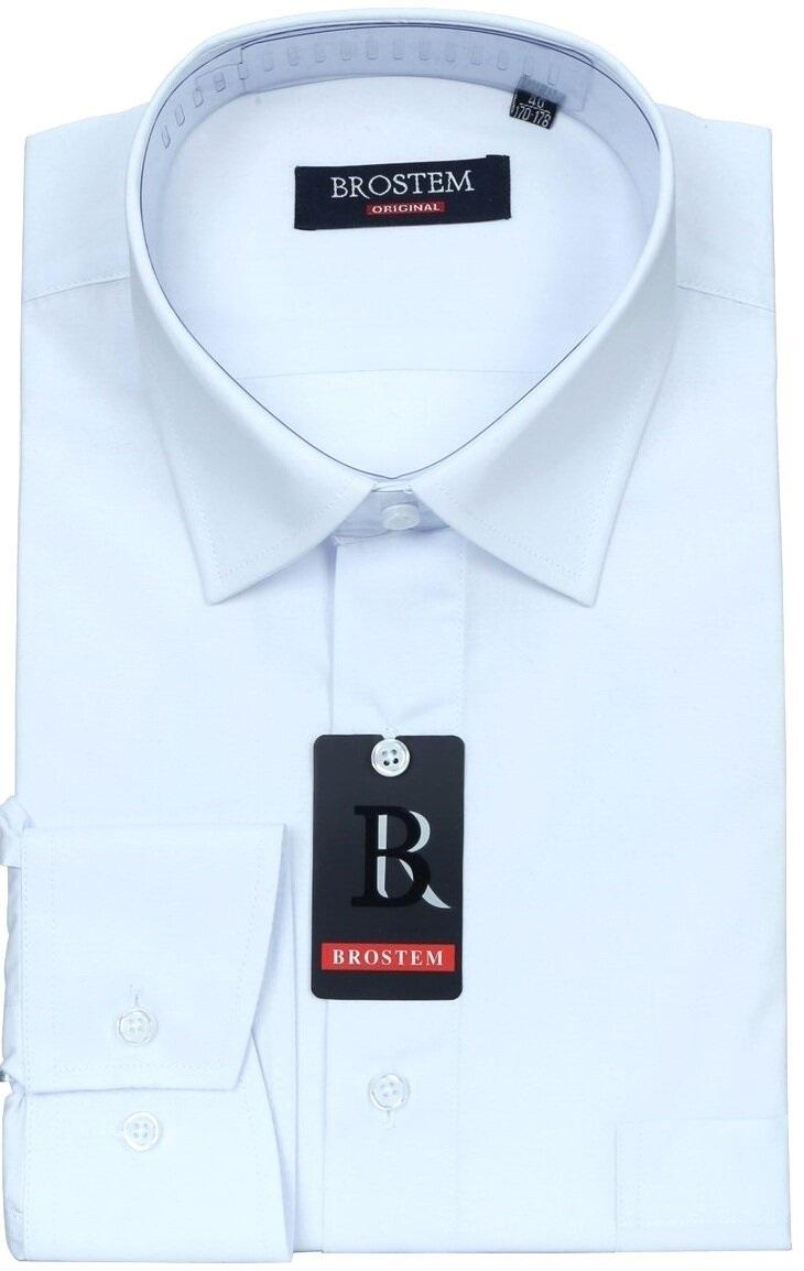 Белая рубашка с долгим  рукавом Brostem W1