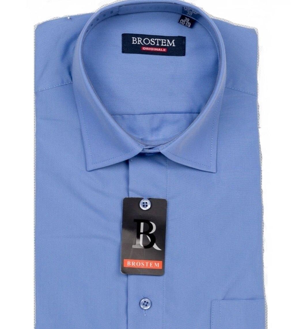 Голубая рубашка мужская Brostem CVC37