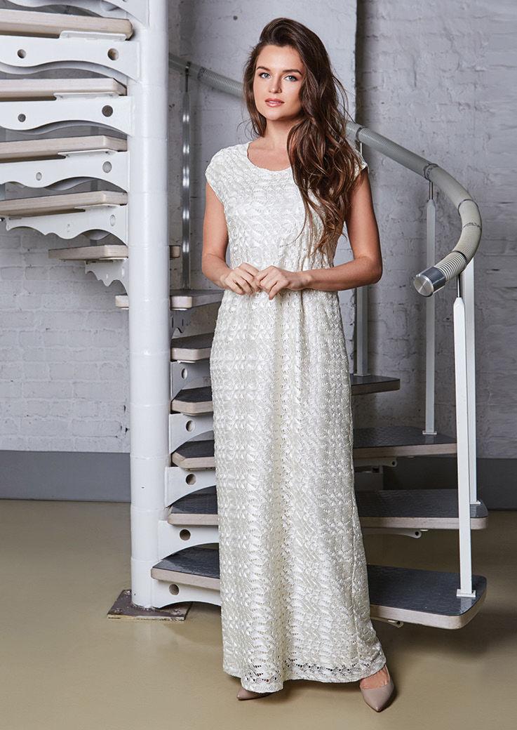 ажурное длинное платье