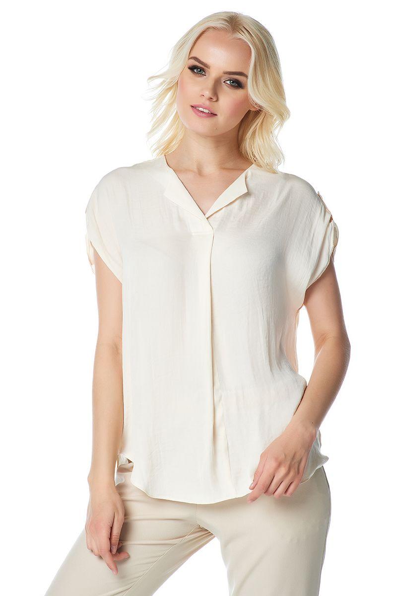 Красивая блузка молочного цвета LalaStyle 1408