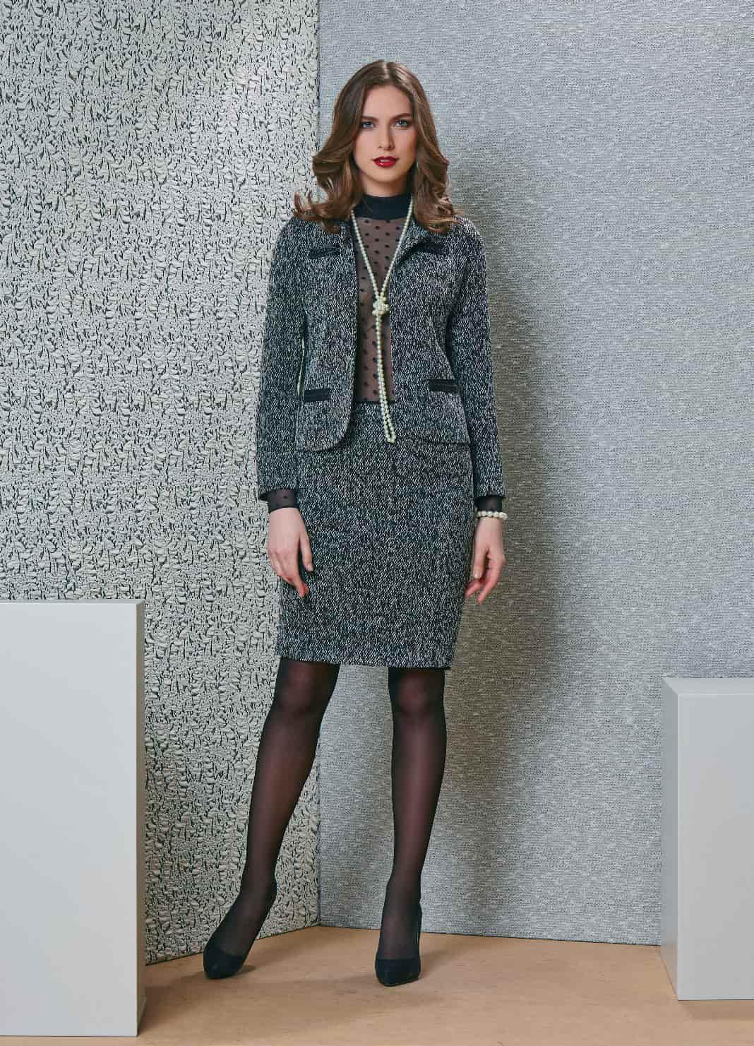 Деловой женский костюм для офиса TopDesign В4 105/106